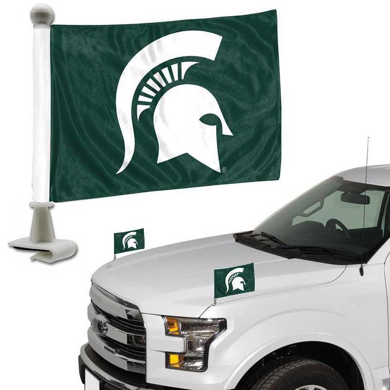 ABFU036: Michigan State Auto Ambassador Flag Pair