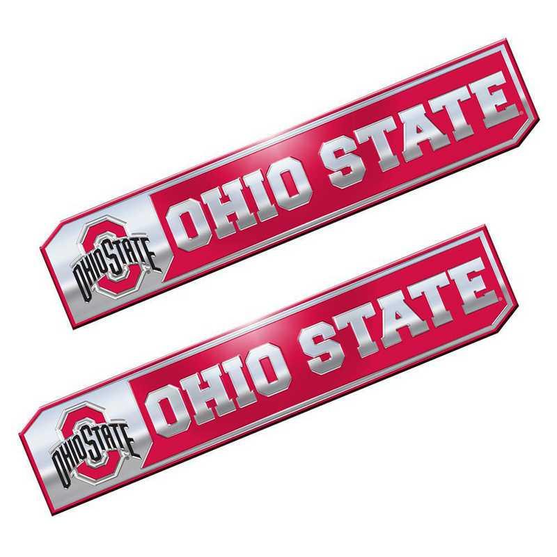 PEU049: Ohio State Premium Aluminum Auto Emblem 2-Pack