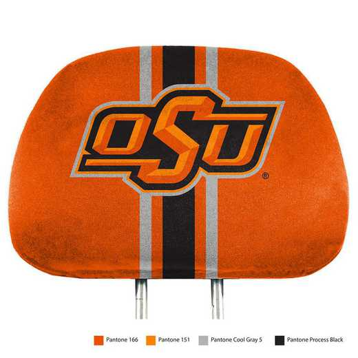 HRPU051: Oklahoma State Printed Auto Headrest Cover Set