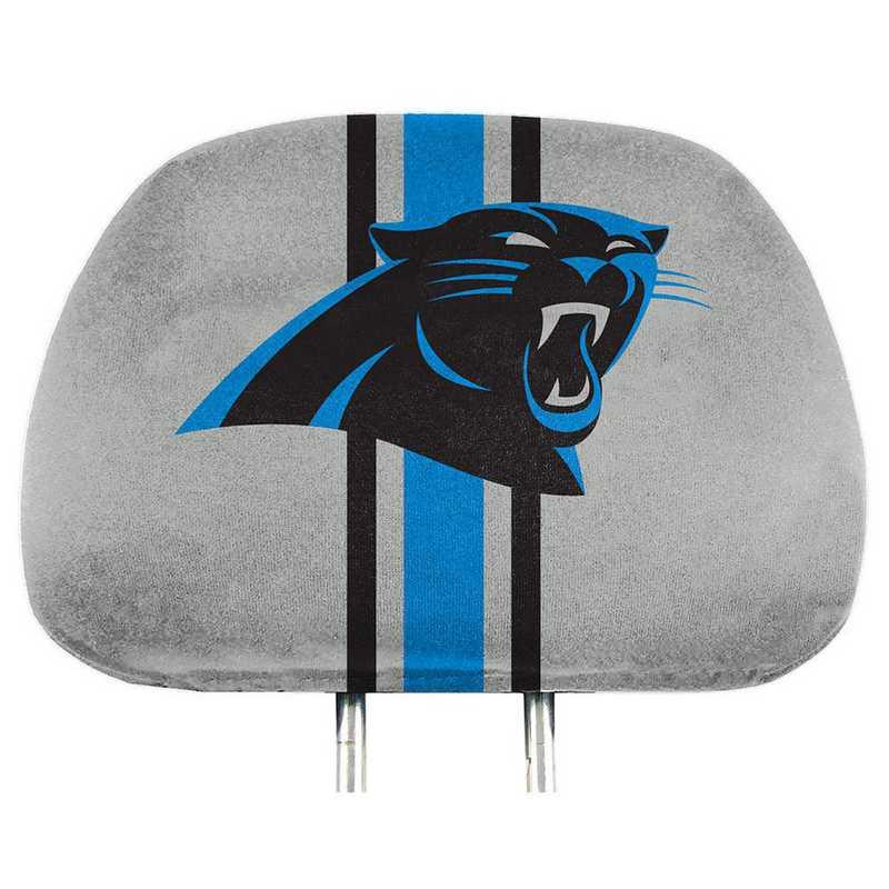 HRPNF05: Carolina Panthers Printed Auto Headrest Cover Set