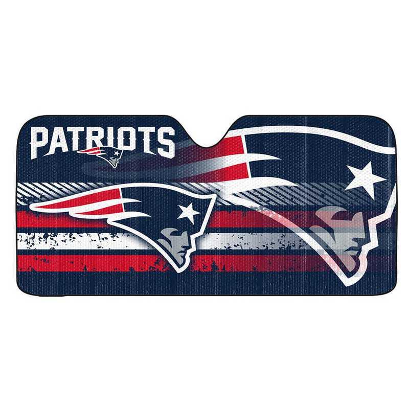 AS2NF18: New England Patriots Universal Auto Sun Shade