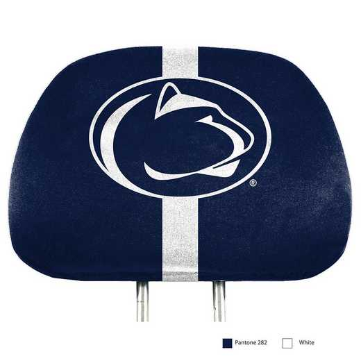 HRPU054: Penn State Printed Auto Headrest Cover Set
