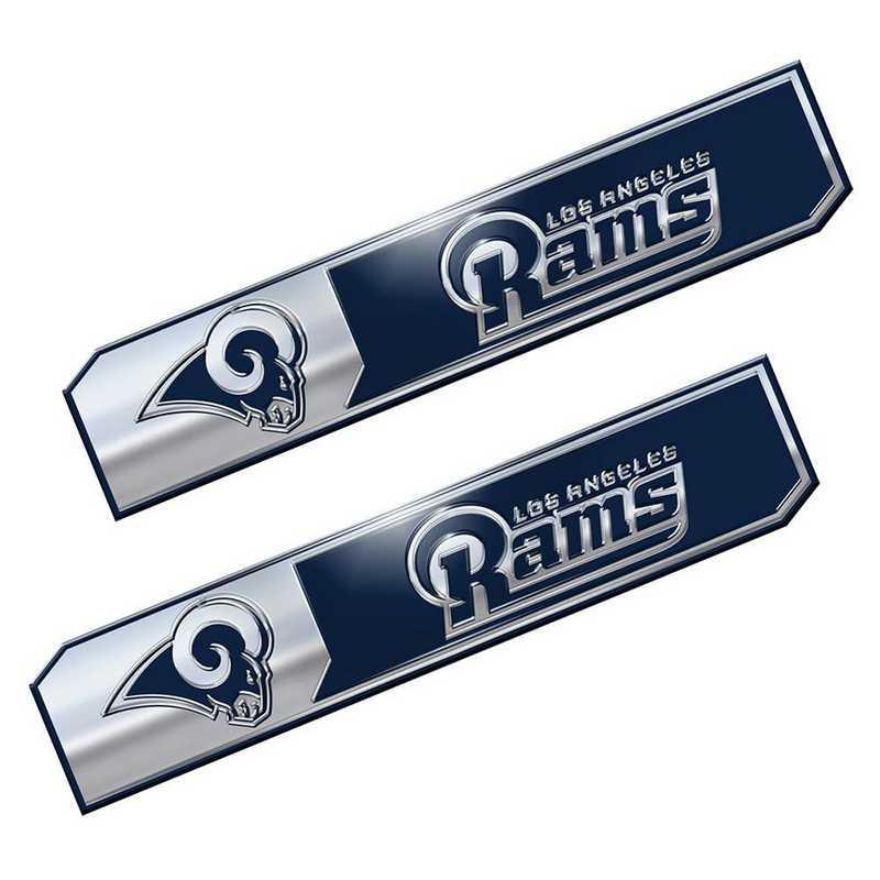 PENF28: LA Rams Premium Aluminum Auto Emblem 2-Pack