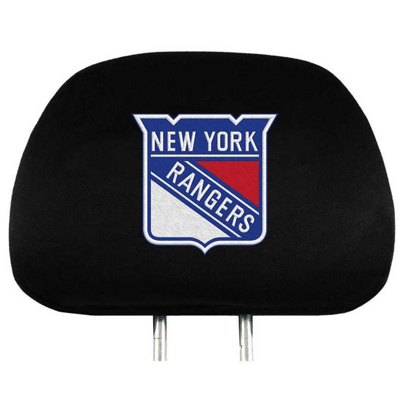 HRNH19: New York Rangers Embroidered Headrest Cover Set