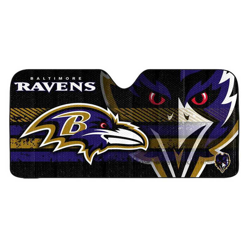 AS2NF03: Baltimore Ravens Universal Auto Sun Shade