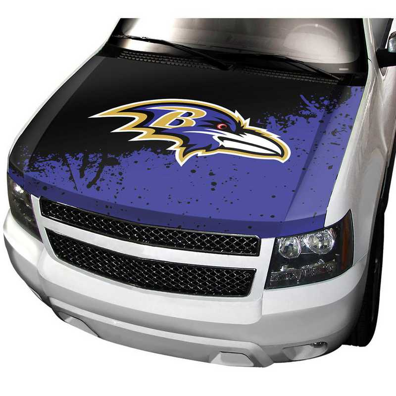 HCNF03: Baltimore Ravens Auto Hood Cover
