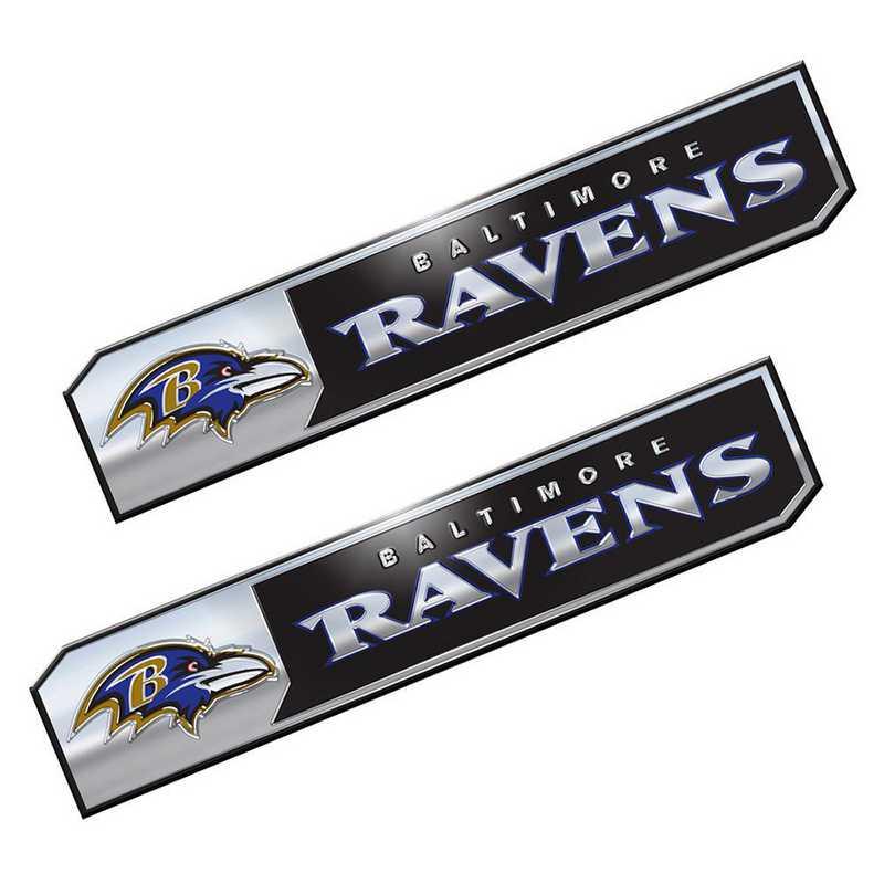 PENF03: Baltimore Ravens Premium Aluminum Auto Emblem 2-Pack