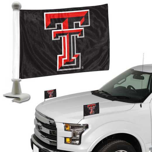 ABFU071: Texas Tech Auto Ambassador Flag Pair