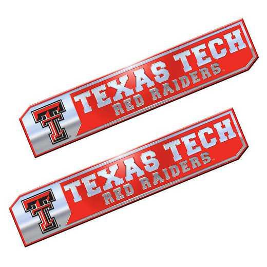 PEU071: Texas Tech Premium Aluminum Auto Emblem 2-Pack
