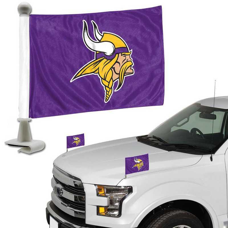 ABFNF17: Minnesota Vikings Auto Ambassador Flag Pair