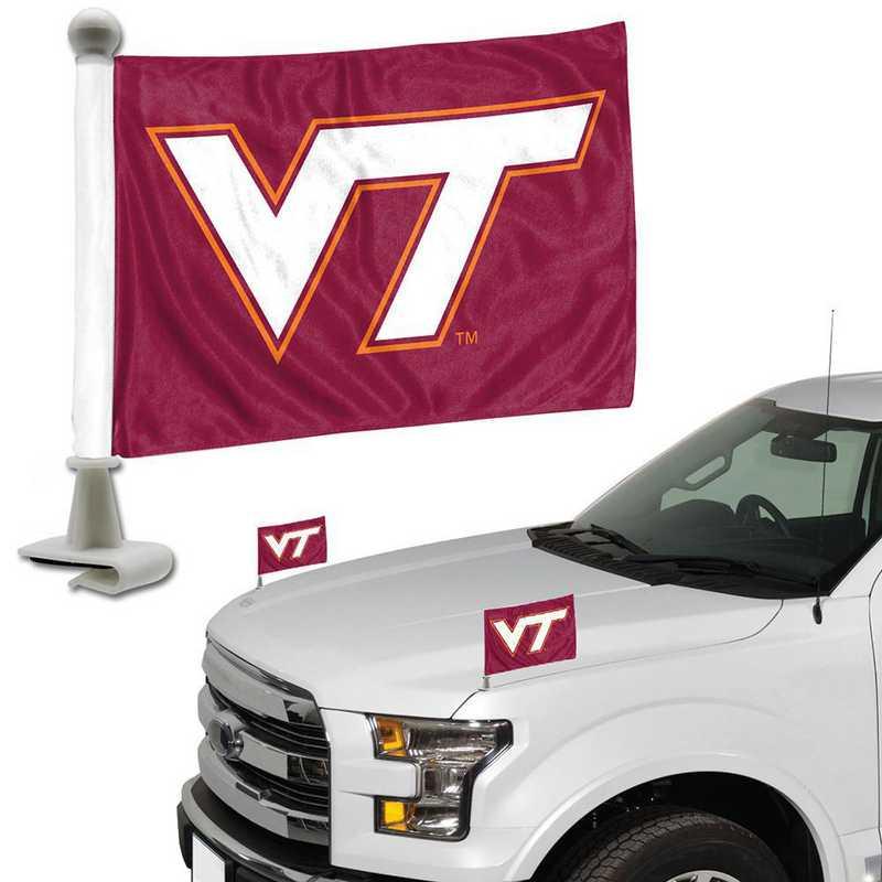 ABFU075: Virginia Tech Auto Ambassador Flag Pair