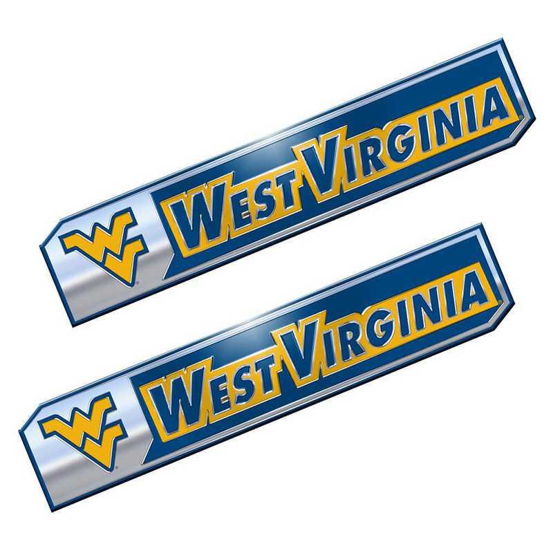 PEU079: West Virginia Premium Aluminum Auto Emblem 2-Pack