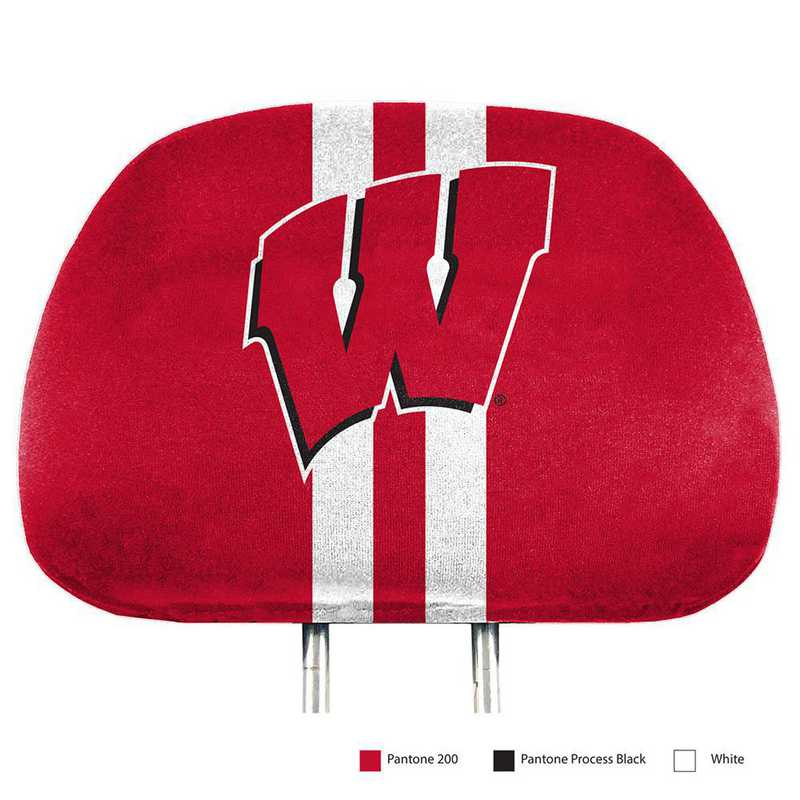 HRPU080: Wisconsin Printed Auto Headrest Cover Set