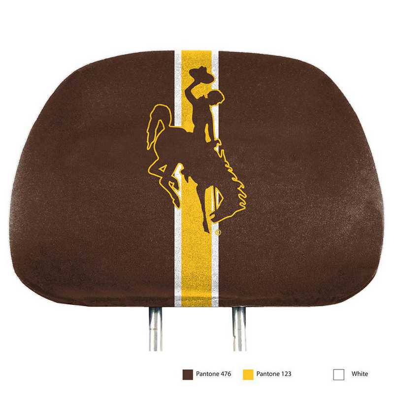 HRPU081: Wyoming Printed Auto Headrest Cover Set