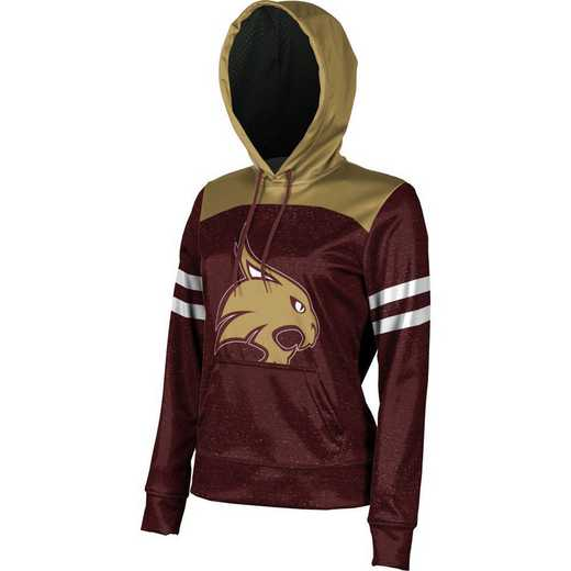 Texas State University Women's Pullover Hoodie, School Spirit Sweatshirt (Game Day)