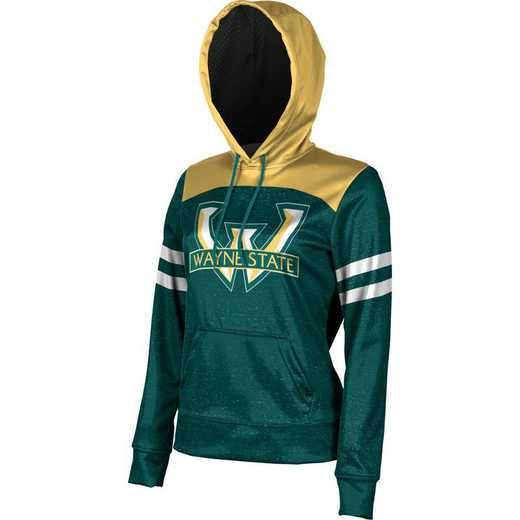 Wayne State University Women's Pullover Hoodie, School Spirit Sweatshirt (Game Day)