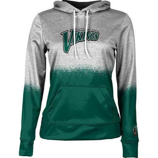 Cleveland State University Women's Pullover Hoodie, School Spirit Sweatshirt (Spray)