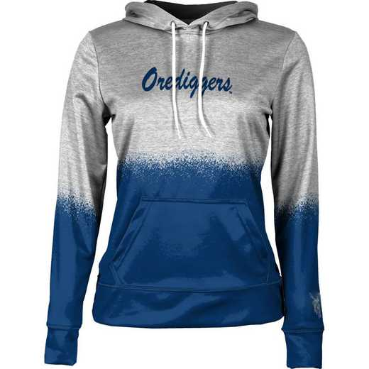 Colorado School of Mines University Women's Pullover Hoodie, School Spirit Sweatshirt (Spray)
