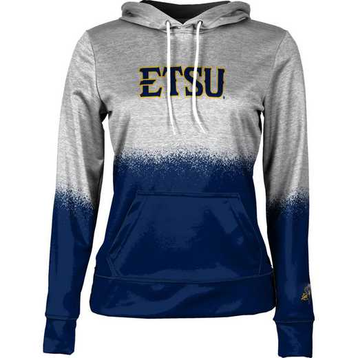 East Tennessee State University Women's Pullover Hoodie, School Spirit Sweatshirt (Spray)