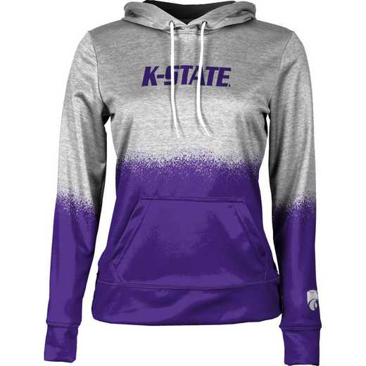 Kansas State University Women's Pullover Hoodie, School Spirit Sweatshirt (Spray)