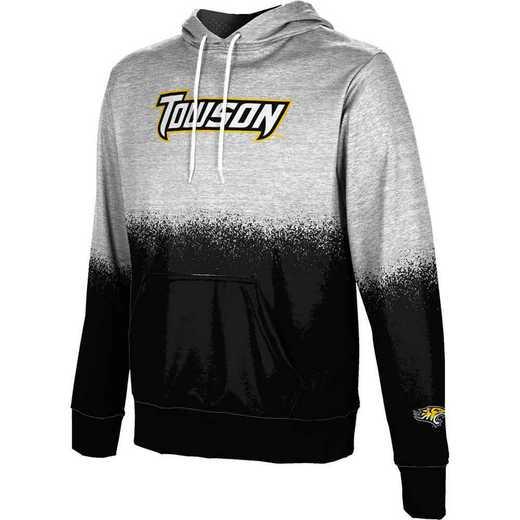 Towson University Men's Pullover Hoodie, School Spirit Sweatshirt (Spray)