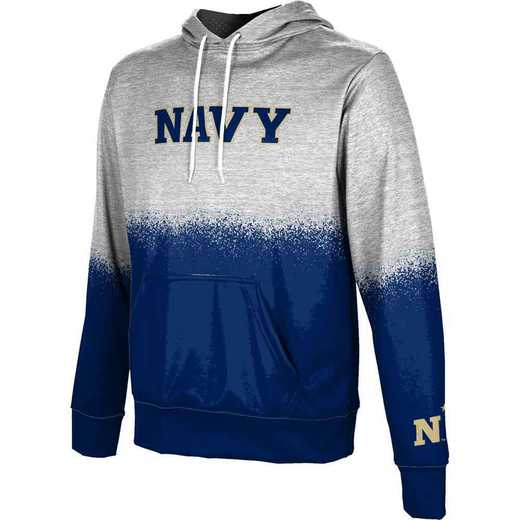 United States Naval Academy Men's Pullover Hoodie, School Spirit Sweatshirt (Spray)