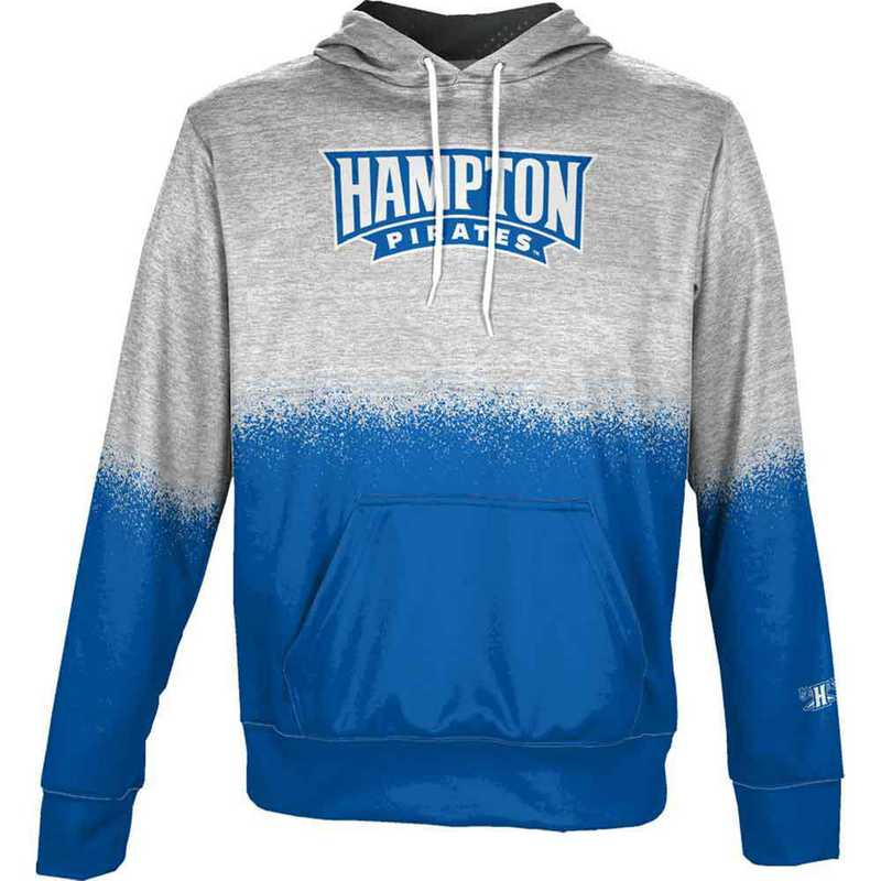 Hampton University Men's Pullover Hoodie, School Spirit Sweatshirt (Spray)
