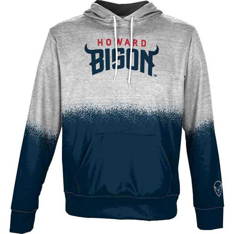 Howard University Men's Pullover Hoodie, School Spirit Sweatshirt (Spray)