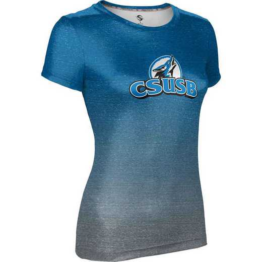 California State University San Bernardino Women's Performance T-Shirt (Ombre)