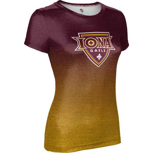 ProSphere Iona College University Girls' Performance T-Shirt (Ombre)