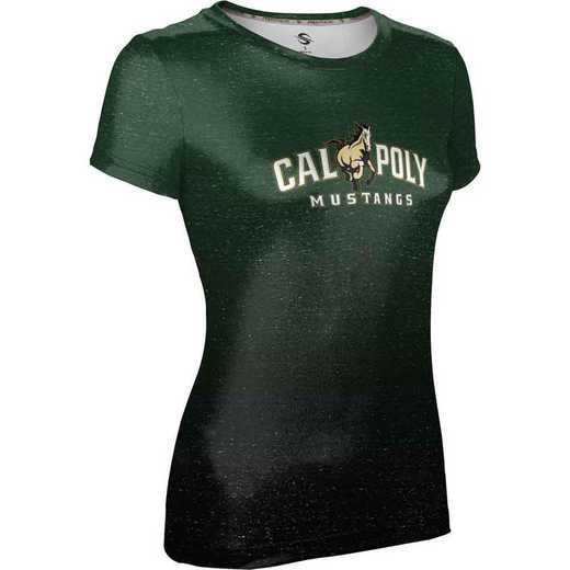 California Polytechnic State University Women's Performance T-Shirt (Ombre)