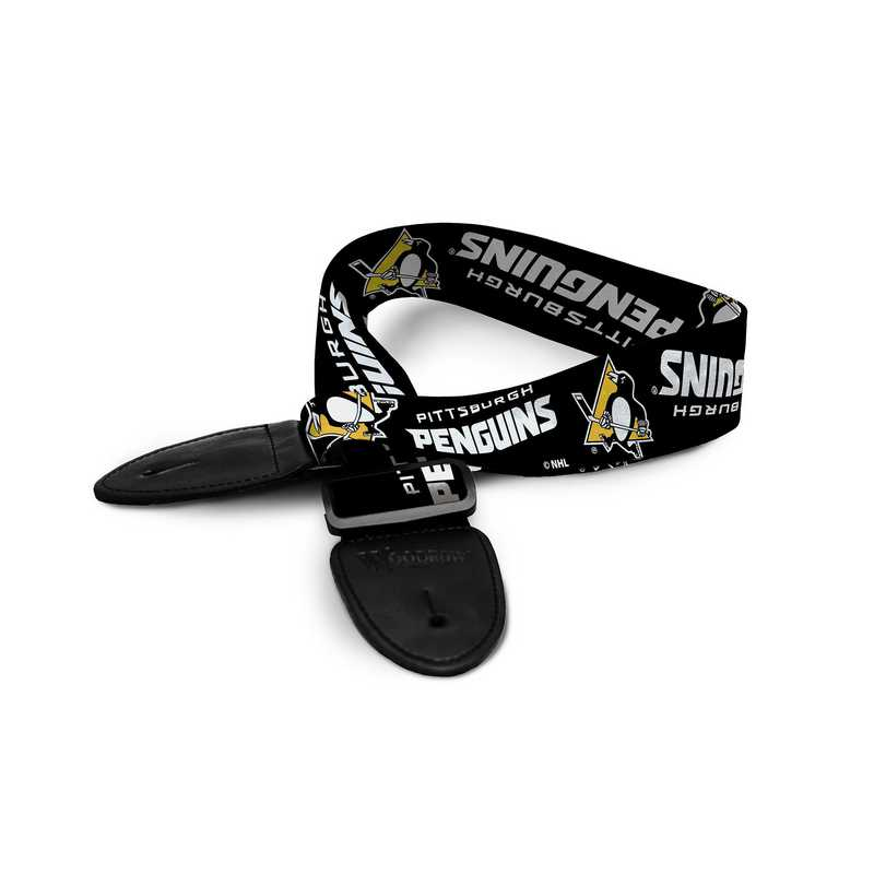 GSNHL34:  Pittsburgh Penguins Guitar Strap