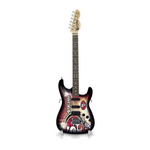 GMNFL28: TSV  San Francisco 49ers Mini Guitar