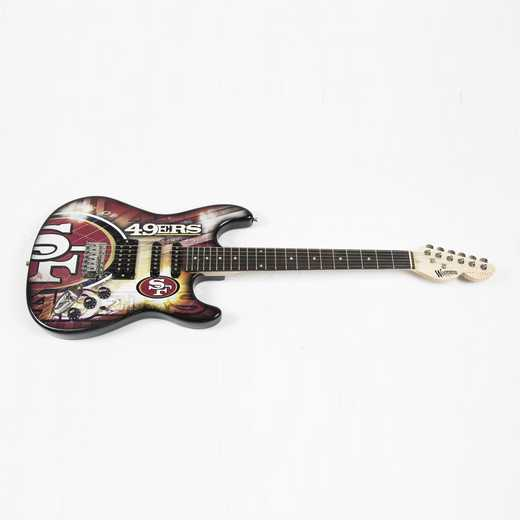 NENFL28:  San Francisco 49ers Northender Guitar