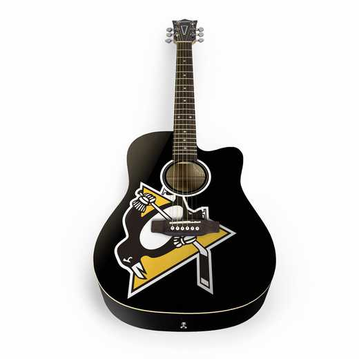 ACNHL34: Pittsburgh Penguins Acoustic Guitar
