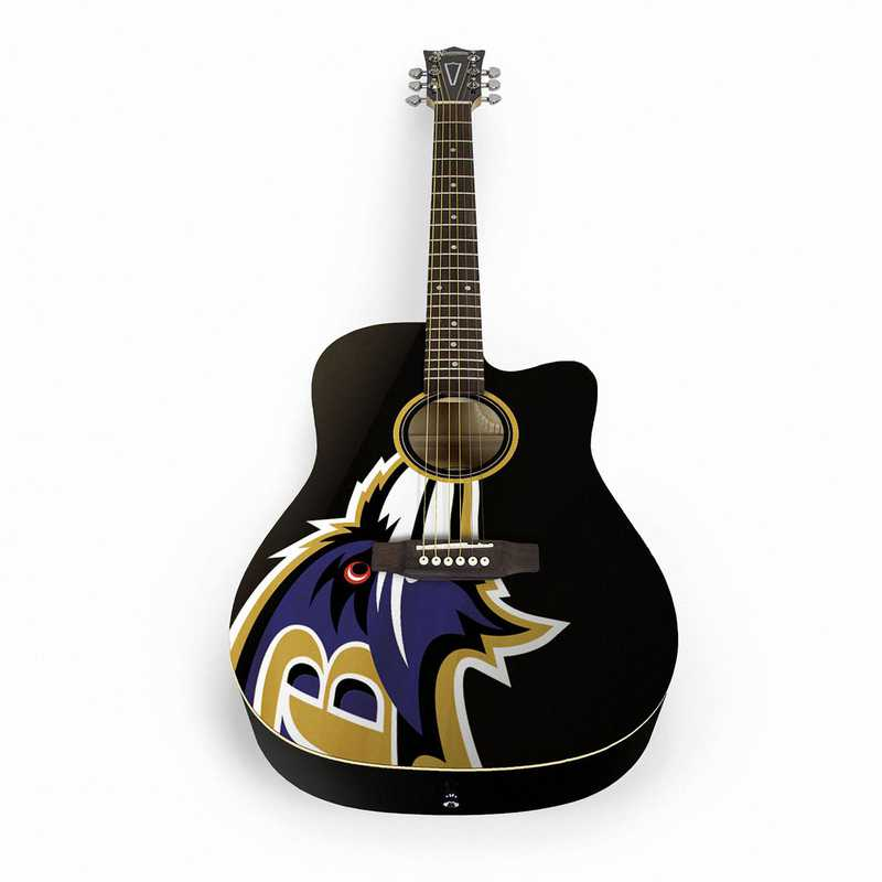 ACNFL03:  Baltimore Ravens Acoustic Guitar