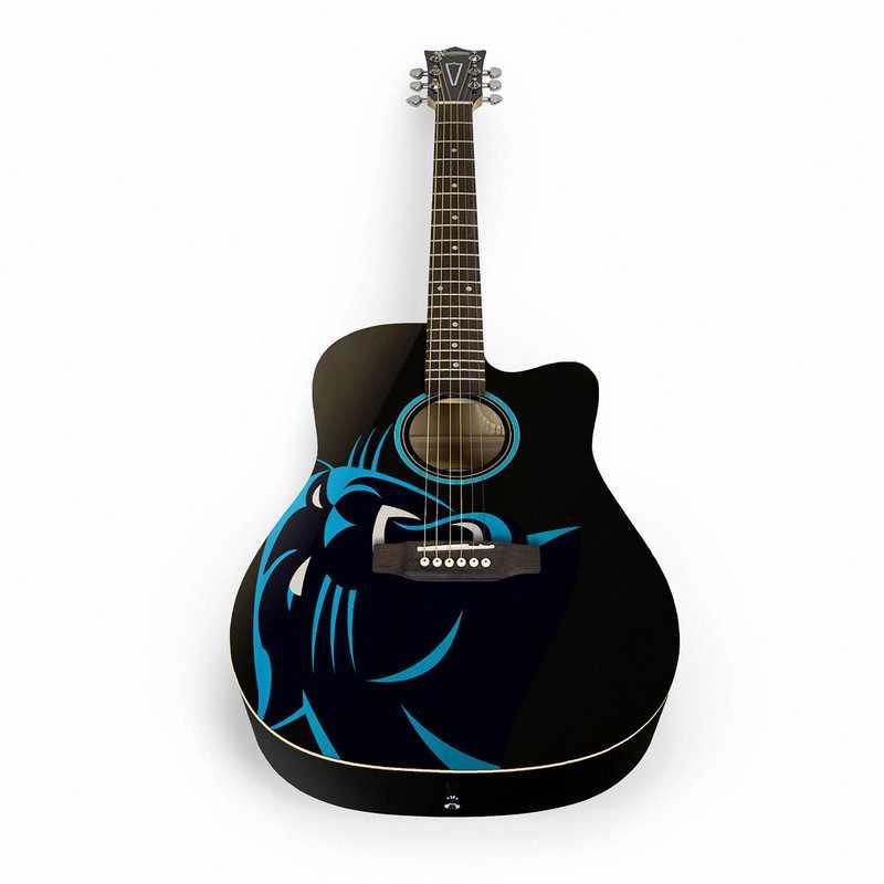 ACNFL05:  Carolina Panthers Acoustic Guitar