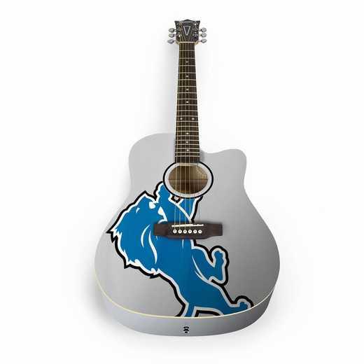 ACNFL11:  Detroit Lions Acoustic Guitar