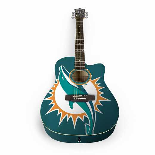 ACNFL17:  Miami Dolphins Acoustic Guitar