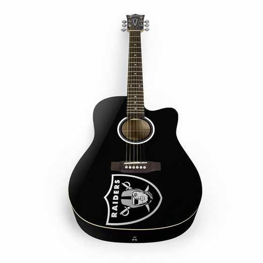 ACNFL23:  Oakland Raiders Acoustic Guitar