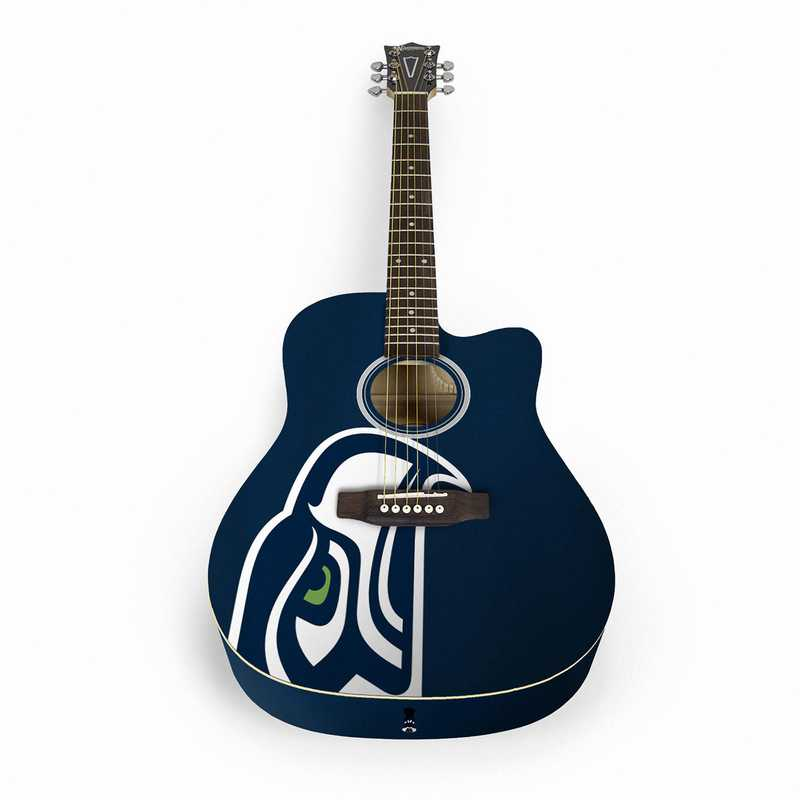 ACNFL29:  Seattle Seahawks Acoustic Guitar