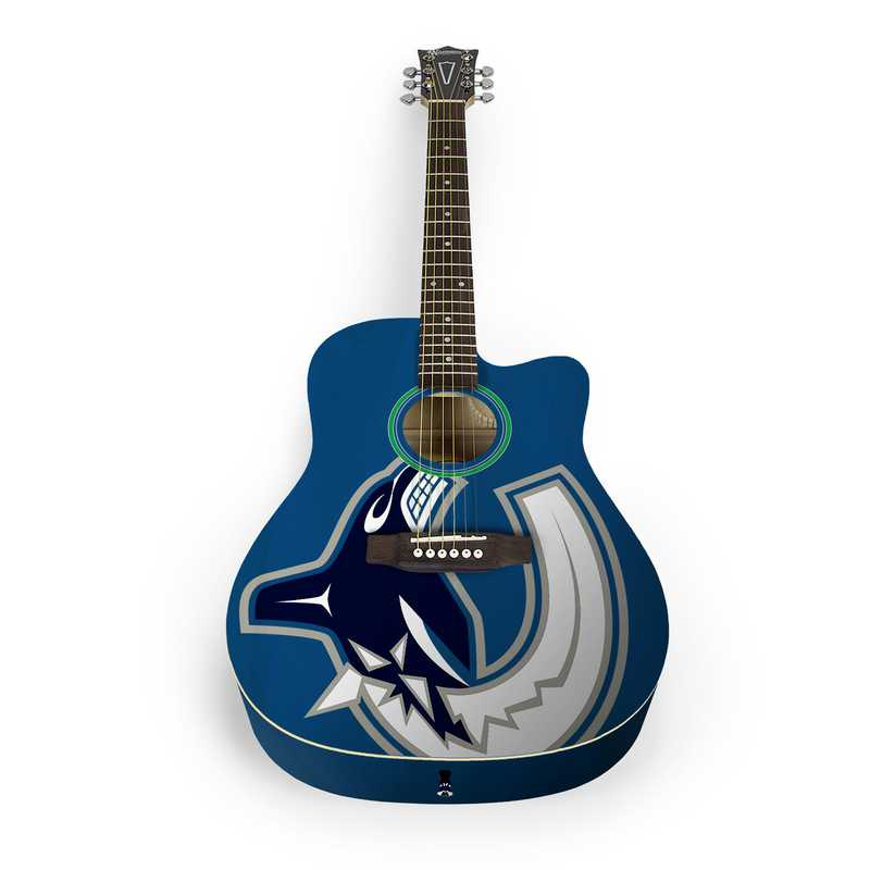 ACNHL28: Vancouver Canucks Acoustic Guitar