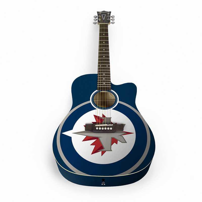 ACNHL30: Winnipeg Jets Acoustic Guitar