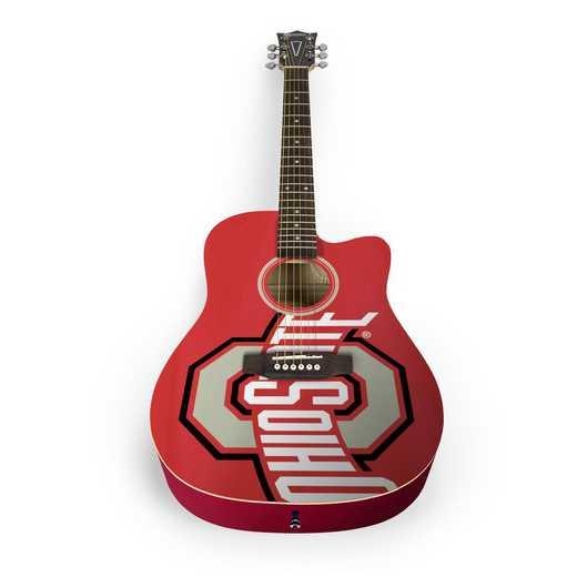 ACOSU01: Ohio State Buckeyes Acoustic Guitar