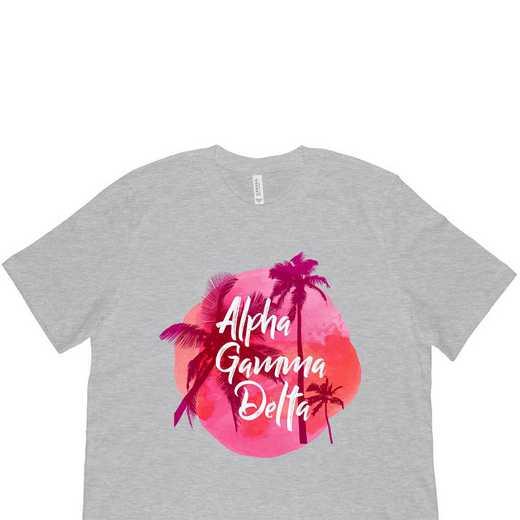 Alpha Gamma Delta Tropical Palm Tree Sunset Gray