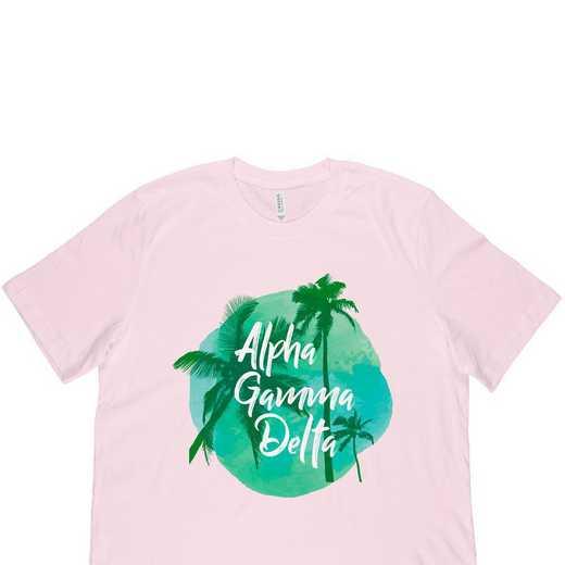 Alpha Gamma Delta Tropical Palm Tree Sunset-Pink