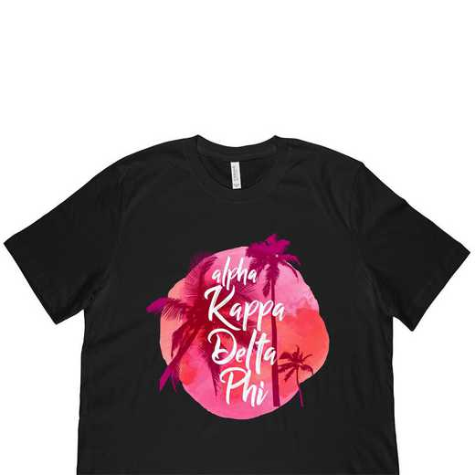 Alpha Kappa Delta Phi Tropical Palm Tree Sunset Black