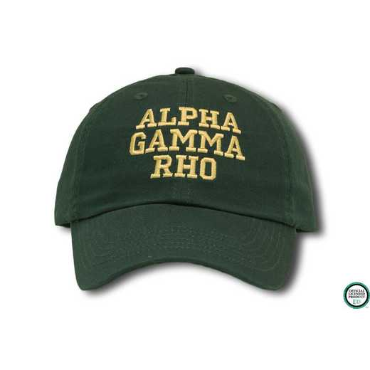 agrcs1: Alpha Gamma Rho Athletic Baseball Cap- Green/Wht