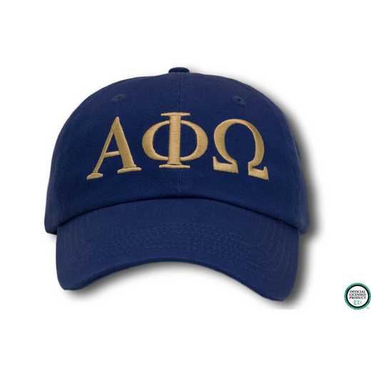 aphiogo1: Alpha Phi Omega Greek Letter Baseball Cap-Blue/White