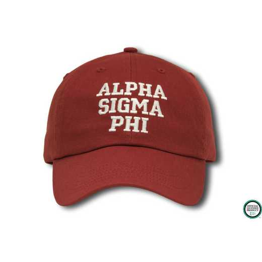 asphics1: Alpha Sigma Phi Athletic Baseball Cap-Red/White